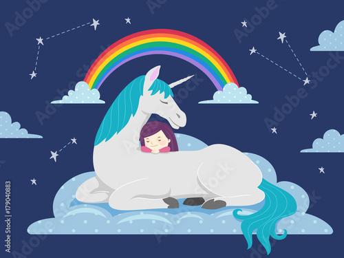 Photo  Kid Girl Sleep Dream Unicorn