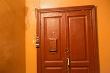 Typical Old Wooden Door In A R...