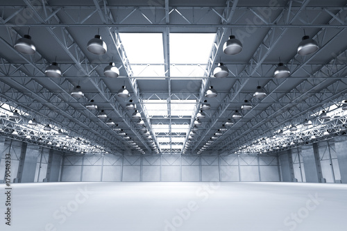 фотографія  empty factory with lamps