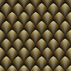 NaklejkaArt Deco style seamless pattern golden texture