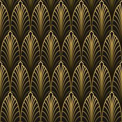 FototapetaArt Deco style seamless pattern golden texture