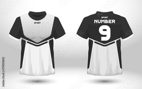 2d1b6b691 Layout football sport t-shirt design. Template front, back view. Soccer kit