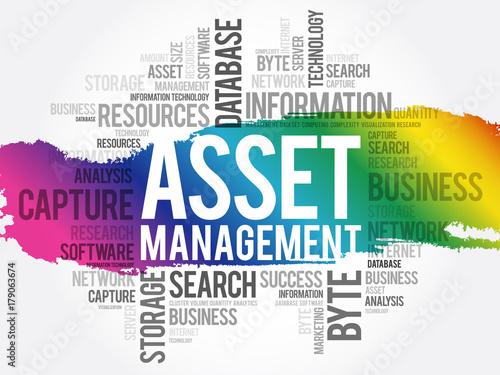 Asset Management word cloud collage, business concept background Canvas Print