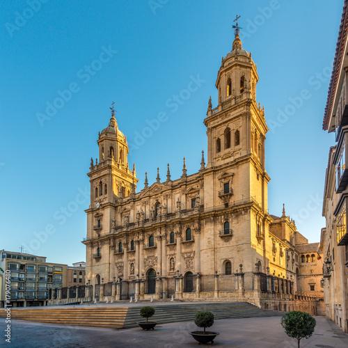 View at the Cathedral of Jaen at the Santa Maria place, Spain