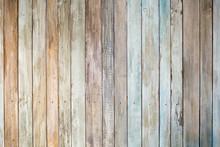 Vintage Background Of Wooden Boards.