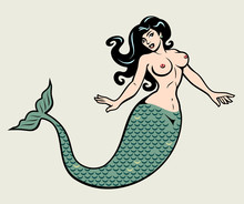 The Image Of A Mermaid In The ...