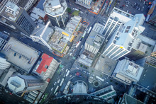 Auckland Buildings Aerial View...
