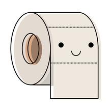 Kawaii Toilet Paper Roll In Co...