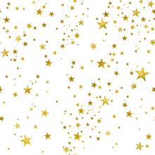Seamless Pattern Of Decorative Gold Stars