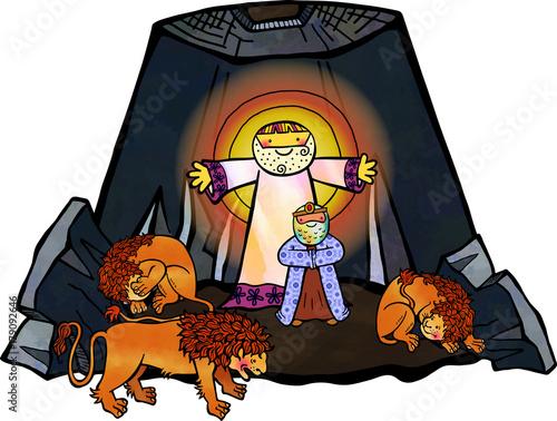 Daniel in the Lions Den Fotomurales