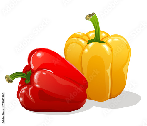Tablou Canvas red and yellow sweet bell peppers