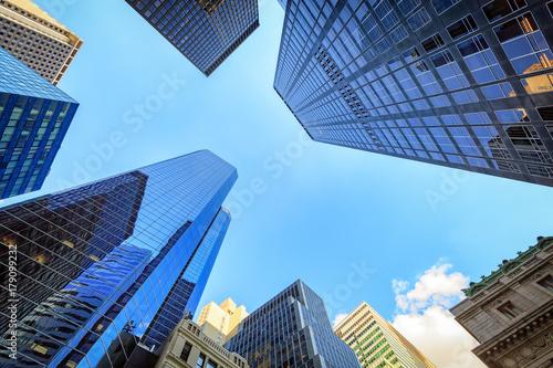 Plakat Widok z góry w dzielnicy finansowej, Manhattan, Nowy Jork
