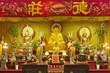France. Paris 13th district. Parisian Chinatown. Altar of the Buddhist temple of the Teochew association in France. District of the Olympiades