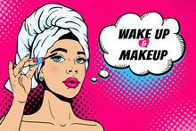 Wake Up And Makeup. Closeup Of...
