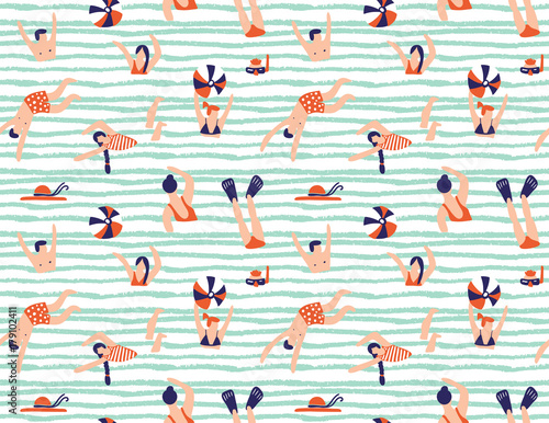 Summer seamless pattern Poster