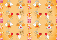 Seamless Christmas Pattern.Ang...