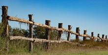 Log Fence In The Country