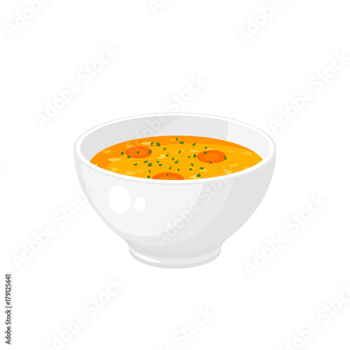Fototapeta Bowl of soup - get well soon