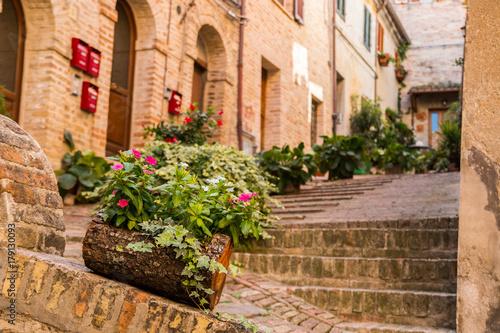 Fototapety, obrazy: Centro Storico di Recanati, Macerata, Marche, Italia