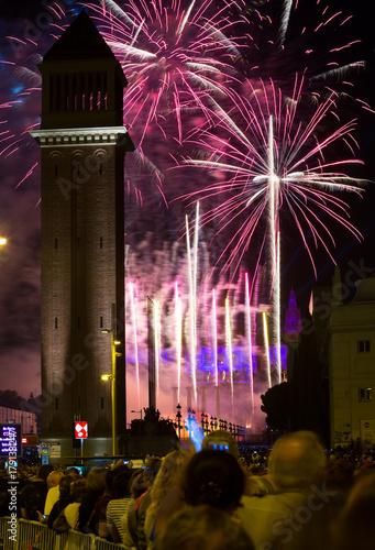 Firework  in Barcelona #179133247