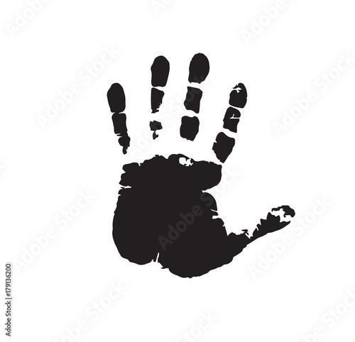 Human hand print isolated on white background Tapéta, Fotótapéta