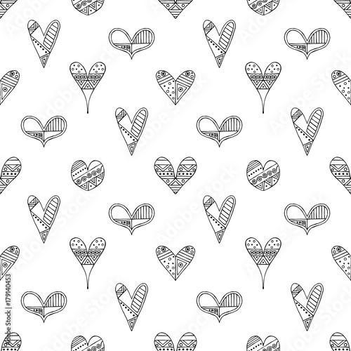 wektor-recznie-rysowane-wzor-dekoracyjne-stylizowane-dziecinne-serca-doodle-stylu-plemiennych-ilustracji-graficznych-slodkie-strony-rysunku-seria-doodle-kreskowki-szkic-ilustracji