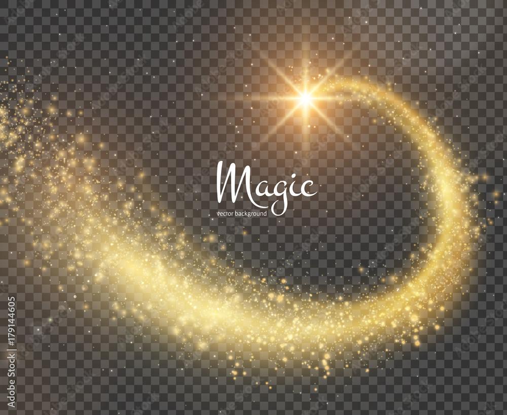 Fototapeta Magic glittering trail background. Vector EPS10