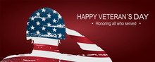 Soldier Saluting The USA Flag ...