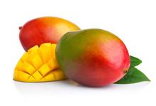Ripe Mango Fruits With Slices ...