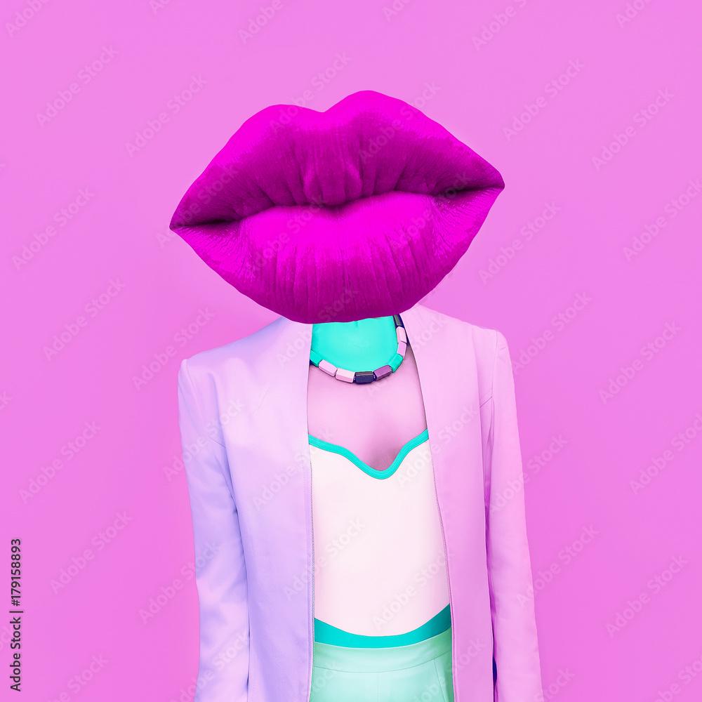 Fototapeta Exclusive photos. Girl fashion mix colors