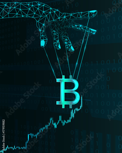 Fotomural  Bitcoin price manipulation.