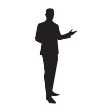 Business Presenter In Suit, Ve...