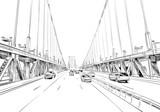 Filadelfia. Pensylwania USA. Ręcznie rysowane. Niezwykłe ulicy szkic, ilustracji wektorowych - 179168444