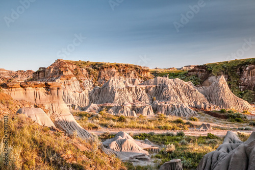 Badlands of Dinosaur Provincial Park in Alberta, Canada Canvas Print