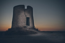 Ruined Tower On The Beach