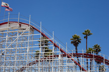 Roller Coaster With Palm Trees...