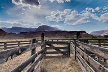 Corral And Clouds