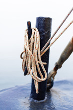 Rope Details On A Ship