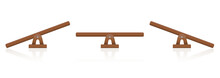 Seesaw Or Wooden Balance Scale...