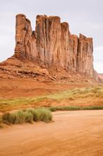 Sandstone Cliffs At Monument Valley, Navajo Park, Arizona, USA