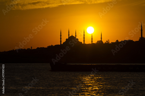 Obraz na dibondzie (fotoboard) İstanbul Sunset