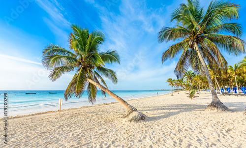 Paradise Beach Also Called Playa Paraiso At Tulum Sunrise Beautiful And Tropical Caribbean Coast
