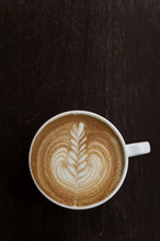Flat White Coffee With Latte Art
