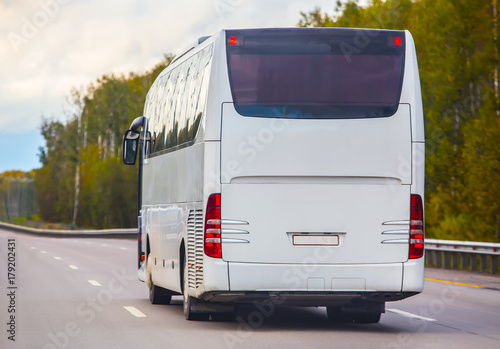 bus goes on highway