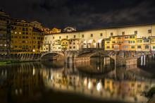 Ponte Vecchio Bridge By Night ...