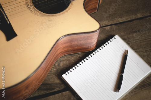 Photo Playing guitar Composing ideas