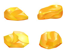 Four Different Gold Nuggets Or...