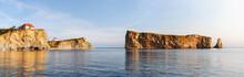 Perce Rock At Gaspe Peninsula