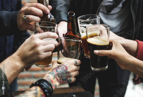 Craft Beer Booze Brew Alcohol Celebrate Refreshment Wallpaper Mural
