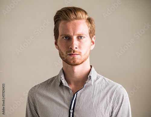 Portrait of a Ginger Caucasian Man